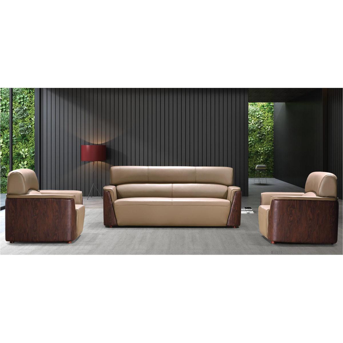China Foshan Office Furniture Modern Leather Office/Hotel Sofa Design (SZ-SF838) - China Office Sofa, Cheap Sofa