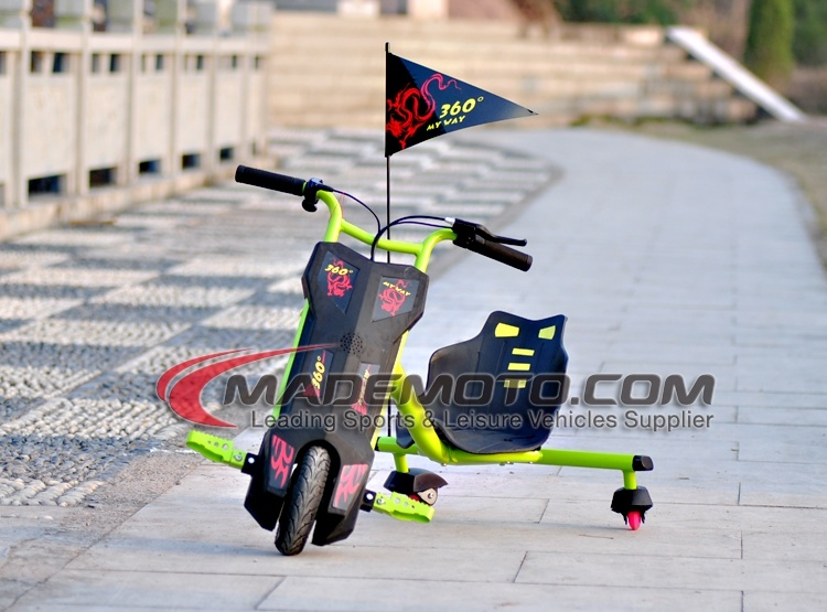 250W 36V Lithium Battery Kids 3 Wheel Electric Drift Trike Sliding Tricycle