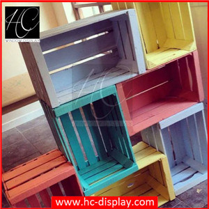 china hc display visual merchandising wooden crates for store window