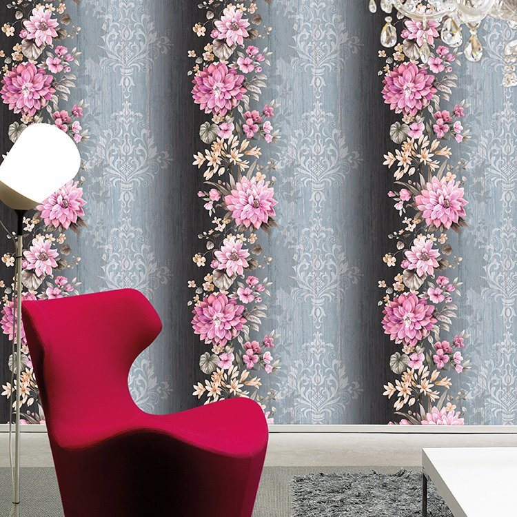 China New Design Wall Paper Home Decoration Red Rose