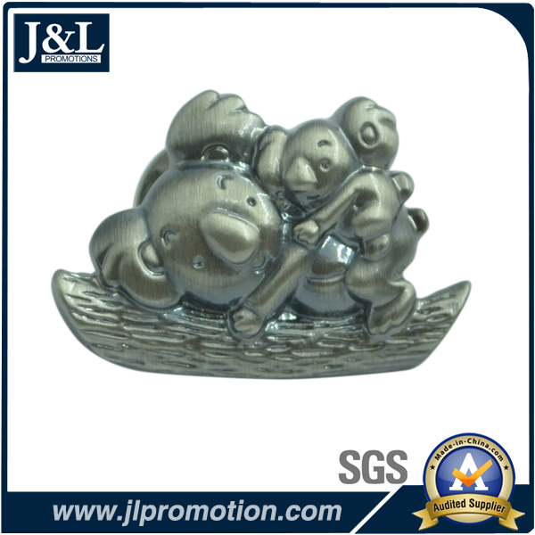 High Quality 3D Antique Nickel Metal Badge