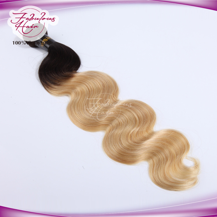 9A Ombre Blonde Human Remy Hair 613# Color Body Wave Hair pictures & photos
