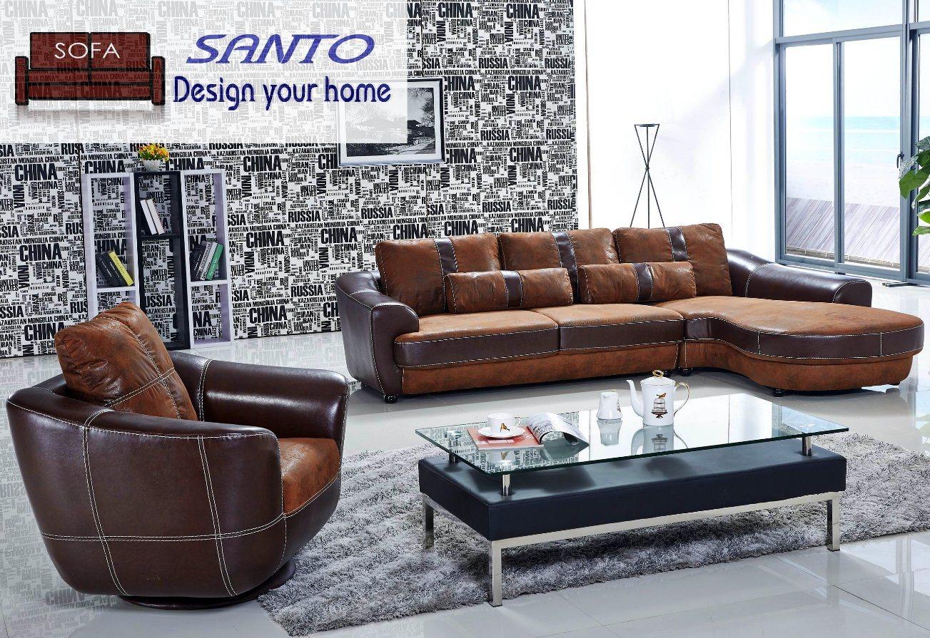 China L Shaped Sofa Set With Italiay