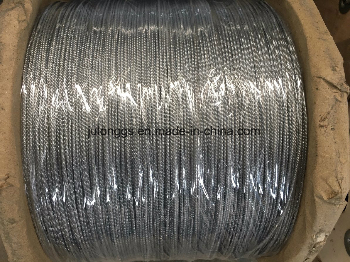China Galvanized Steel Wire Rope 7*7 2mm - China Steel Wire Rope ...
