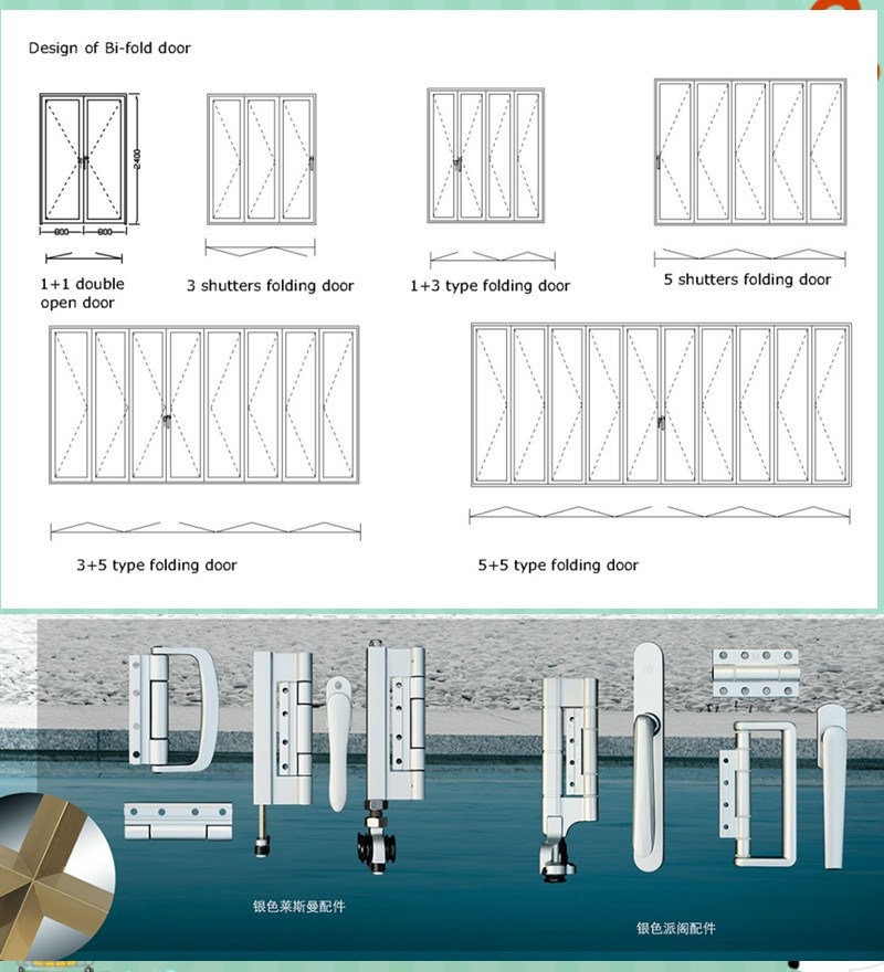 China Wholesale Aluminium Frame Glass Folding Door Photos & Pictures ...