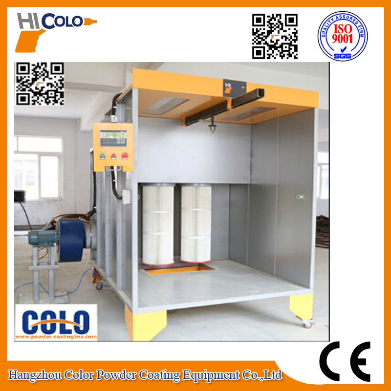 CE Manual Powder Coating Booth for Car Wheel pictures & photos