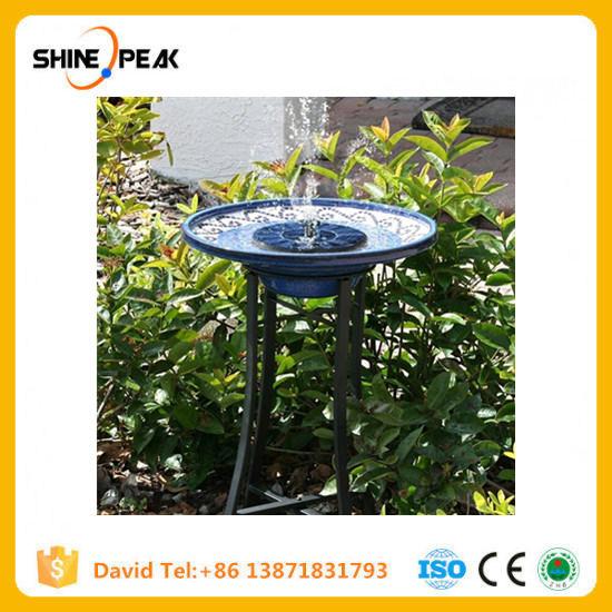 China New Arrival Solar Powered Spray Heads Pump Water Garden