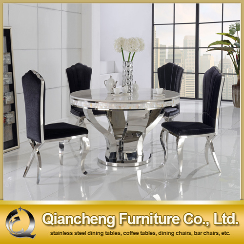 2015 new style round stainless steel dining table