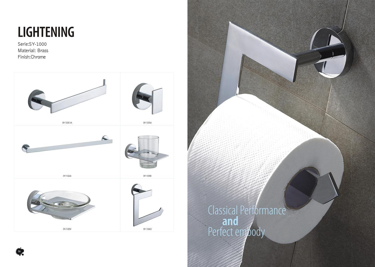 China Soyale Lightening Brass Chrome Bathroom Accessories Sy 1000   China Bathroom  Accessories, Bathroom Fitting
