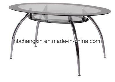 China Oval Tempered Glass Top Round Dining Table Photos Pictures Made In China Com