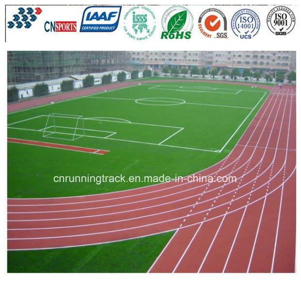 Eco-Friendly Professional PU Athletic Rubber Running Track with Iaaf Certificate pictures & photos