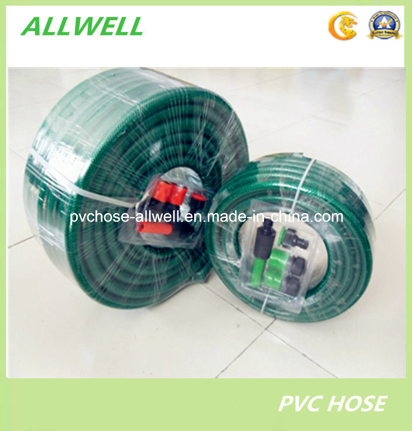 PVC Plastic Flexible Fiber Braided Reinforced Water Garden Irrigation Pipe Hose pictures & photos