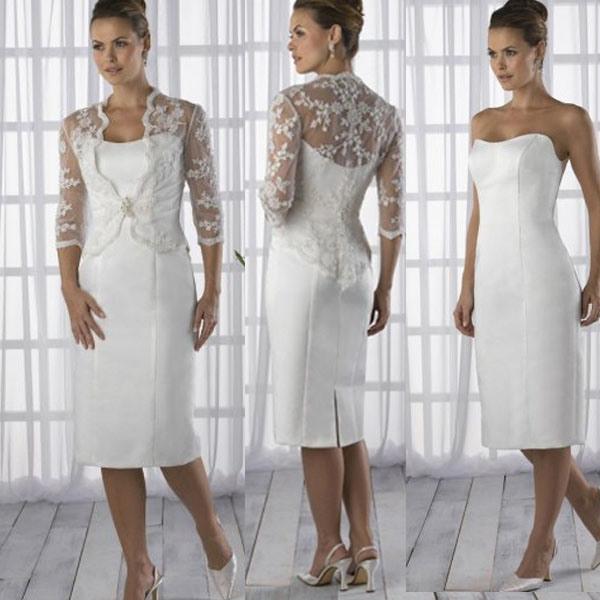49a0f13fb7 China Custom 3/4 Sleeve Lace Bolero Short Mother of The Bride Groom Dresses  Formal Dresses (S22) - China Short Wedding Dress, Mother′s Evening Dress