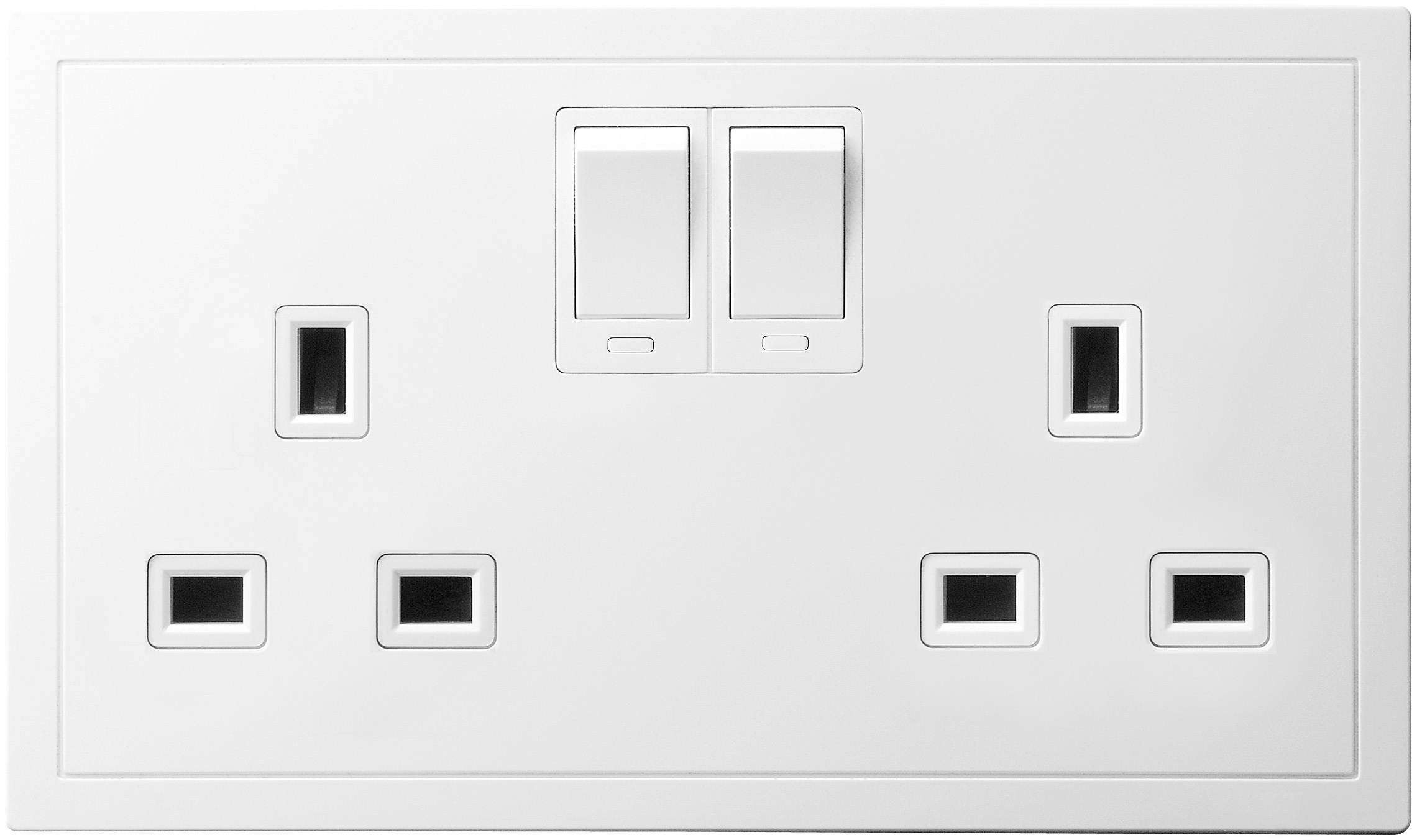 13A 2 Gang Switched Socket Outlet