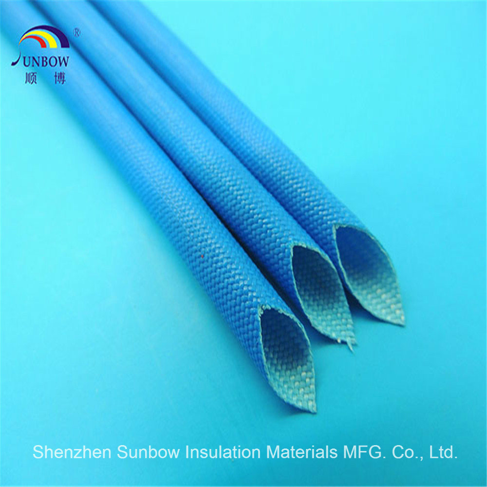 China Fiberglass Sleeving Coated Silicone Resin For Wire Harness Cable Protection