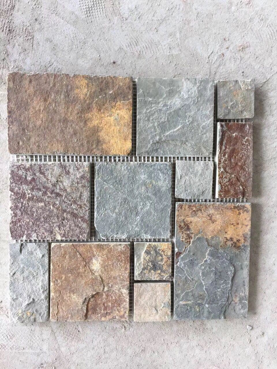 - China Slate/Ceramic/Porcelain/Glass Tumbled Marble Mosaic Tiles