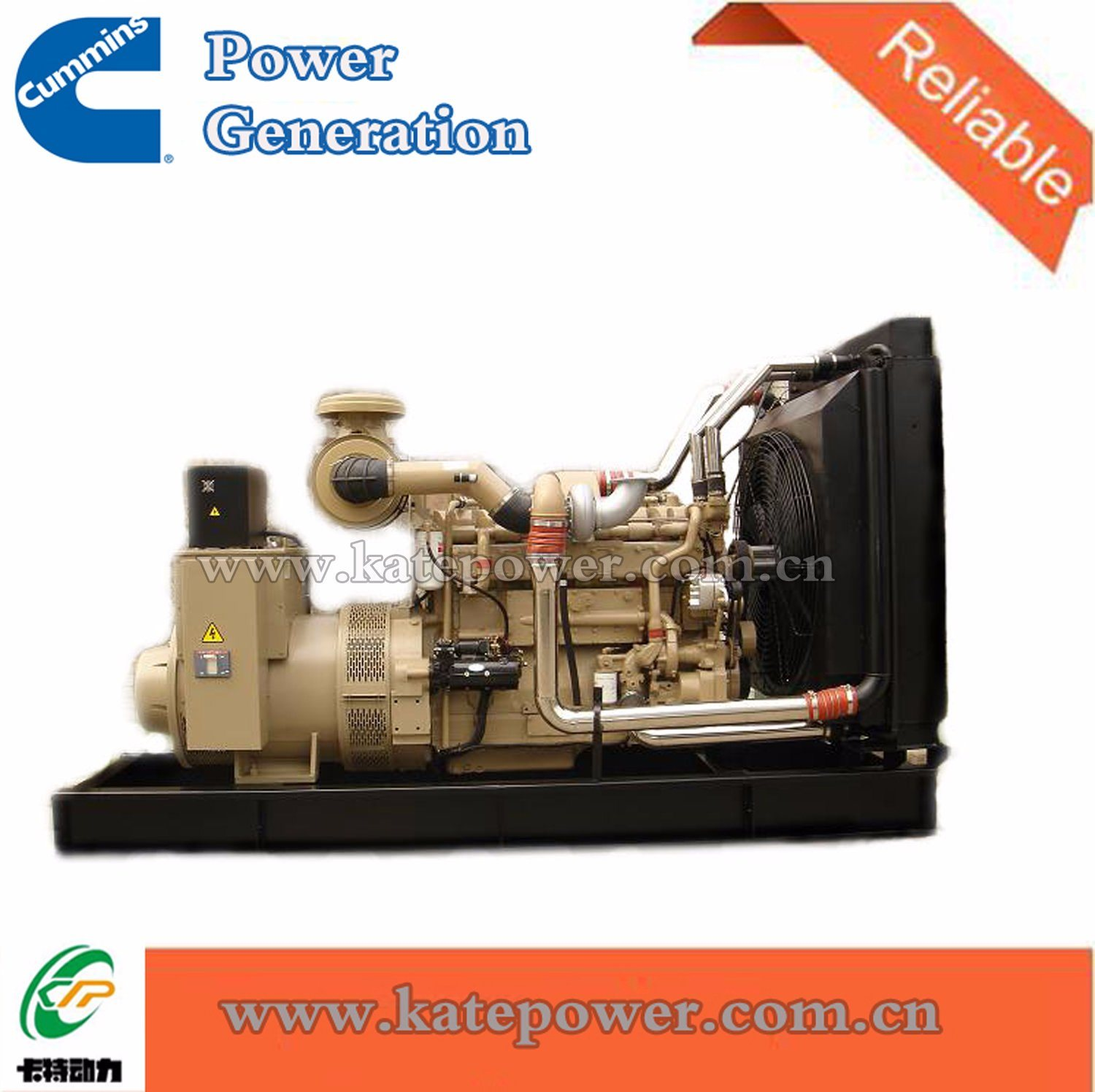 China 600kw/750kVA Open Type Diesel Generator with Cummins Engine Kta38-G2  - China
