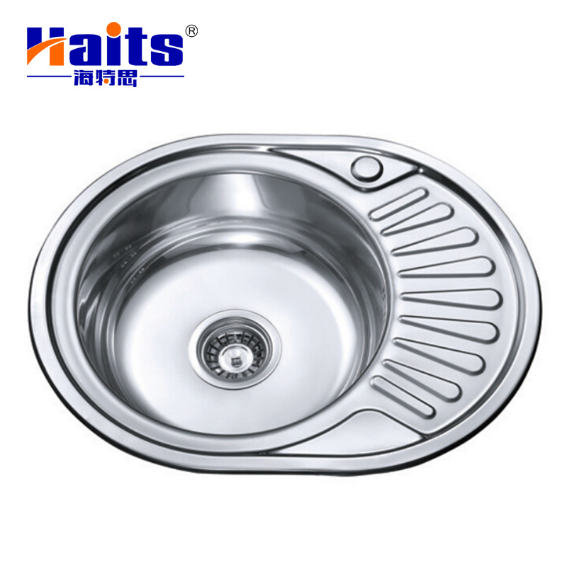 China Single Bowl Stainless Steel Sink Oval Shape For Kitchen Cabinet    China Kitchen Sink, Sink