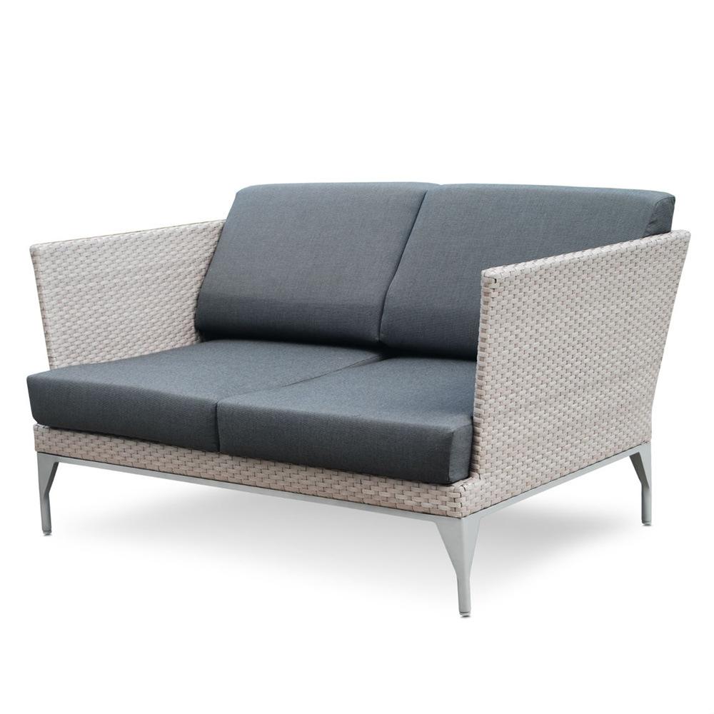 [Hot Item] Luxury Simple Design Rattan Armchair Loveseat 2-Seater Sofa  Outdoor Furniture