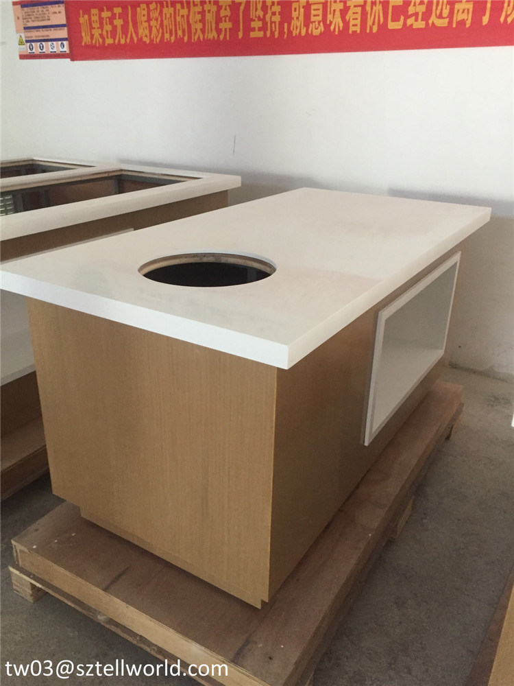 Modern Display Table For Shops Restaurant Buffet Bar Counter Table