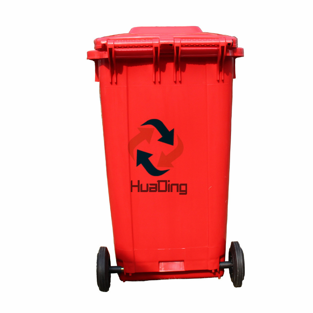 240L Plastic Garbage Dustbin Rubber Wheel Trash Can for Outdoor pictures & photos
