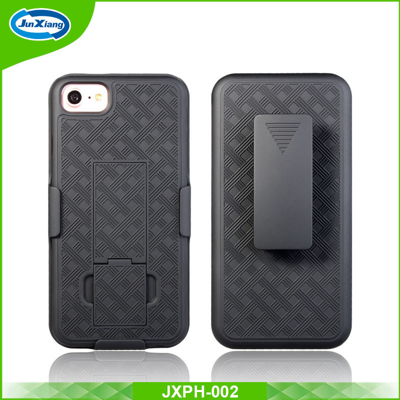 best value 61303 8be23 [Hot Item] 2017 Newest Weave Pattern Holster Combo Belt Clip with Kickstand  Shell Case for iPhone 7 7 Plus