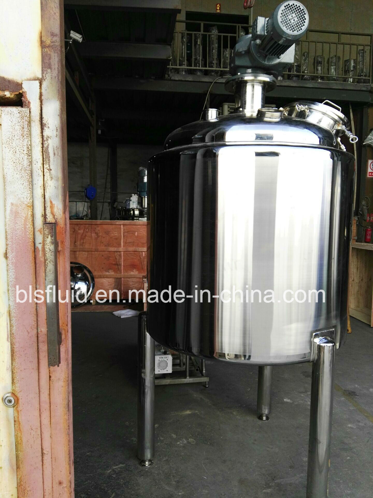 Jacketed Heating Stainless Steel Liquid Mixer Vessel