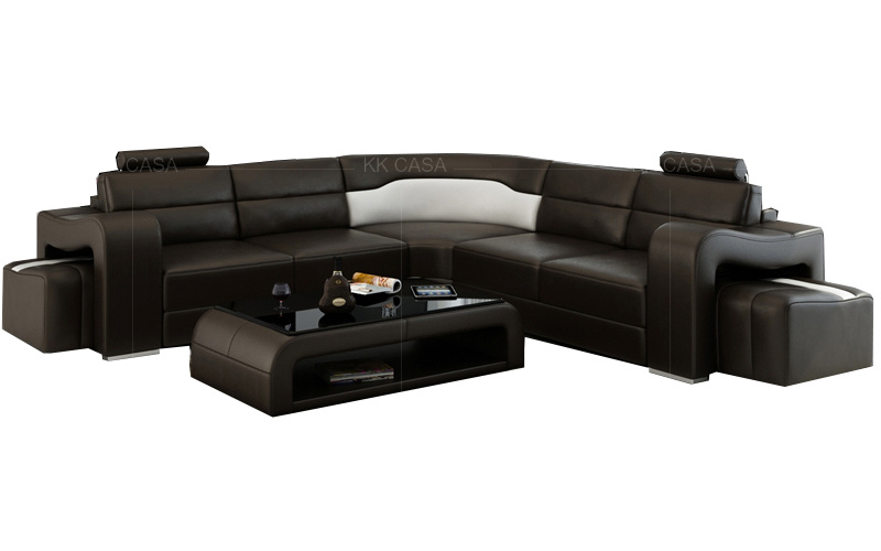 Corner Sofa Modern Leather Set