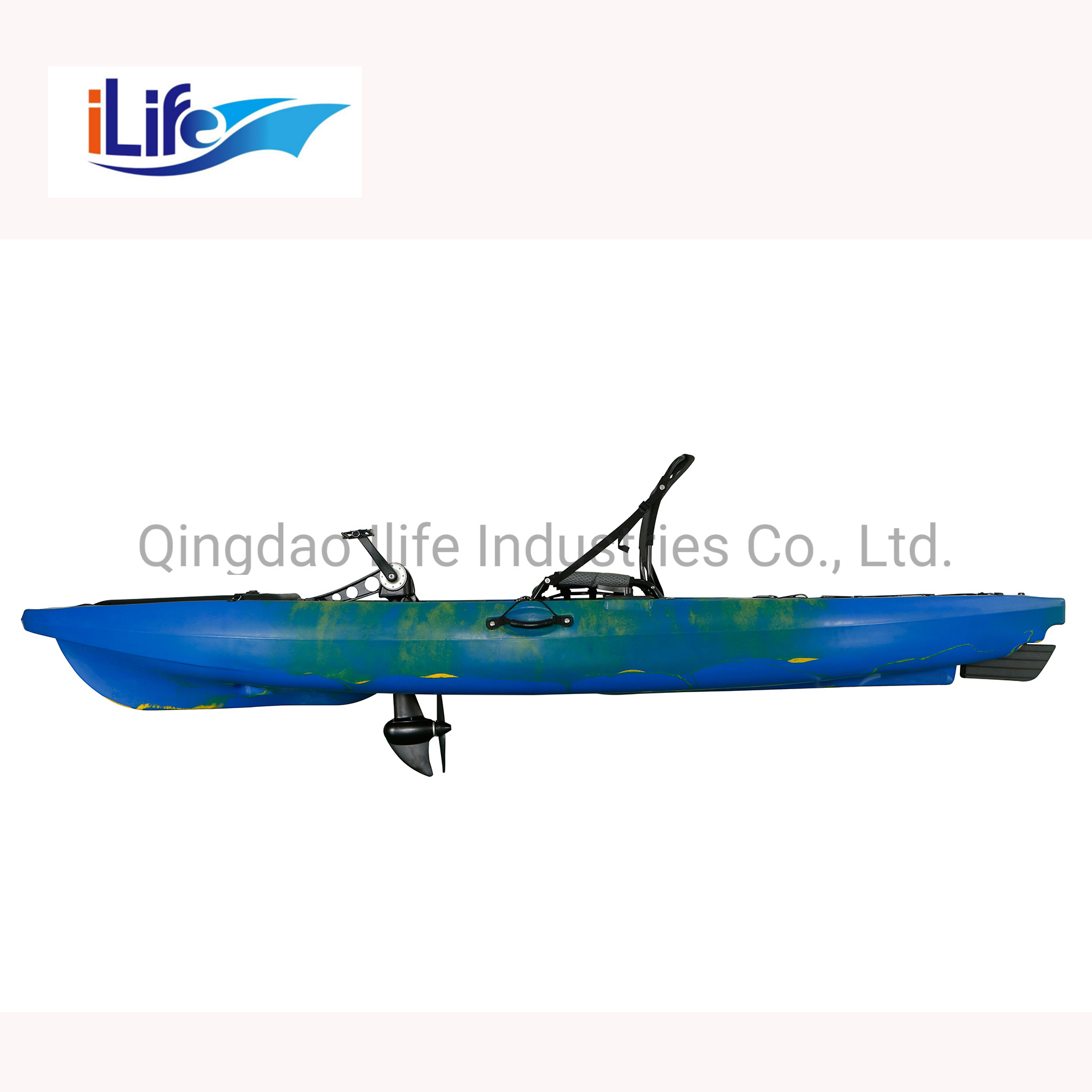 [Hot Item] Ilife New Type Single Electric Motor Fishing Boat Kayak with  Pedal Drive
