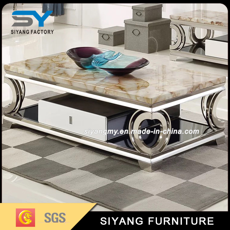 China Heart Shaped Stainless Steel Table Tea Table Factory Coffee Table    China Glass Coffee Table, Living Room Furniture