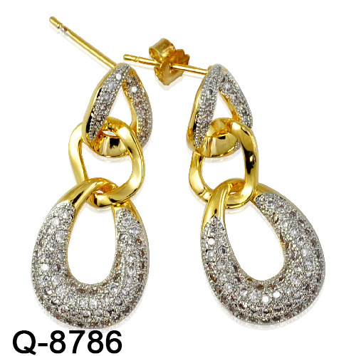 45f63056a Wholesale Handmade 925 Sterling Silver Fashion Jewelry Zircon Stone Long  Earrings for Women. Get Latest Price
