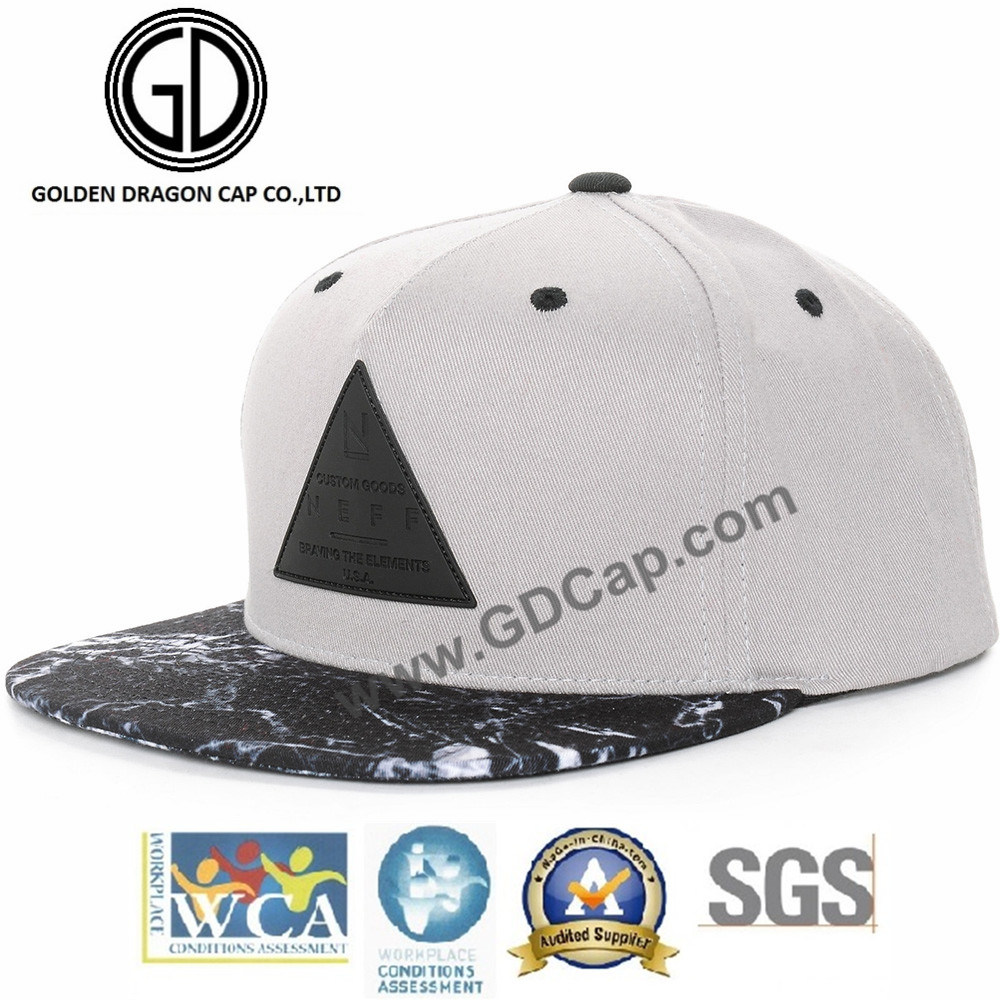 365d0d2f44c9a China High Quality 2017 Custom Fitted Hat Black Snapback Cap with Leather  Patch - China Snapback Cap