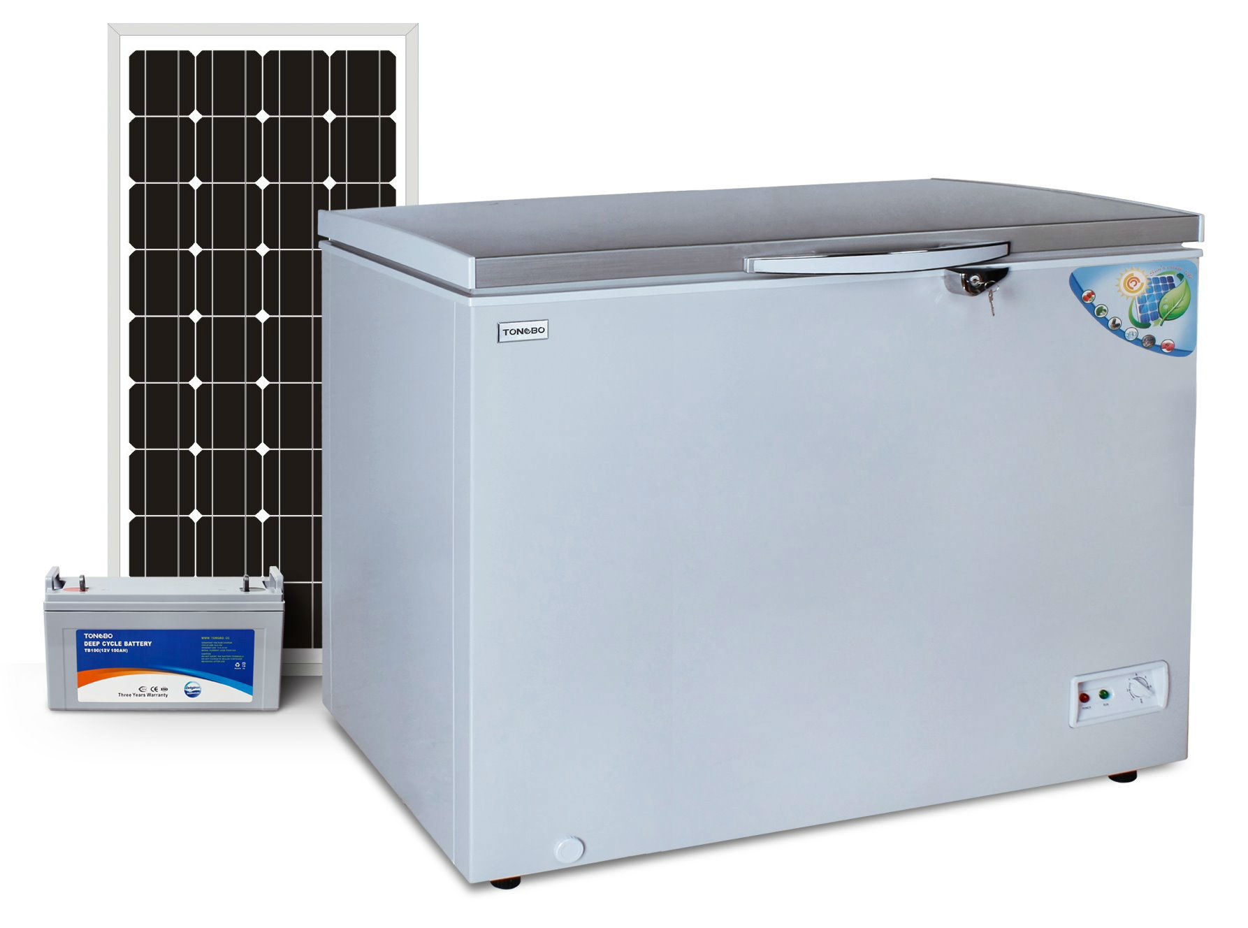 off Grid Solar DC 12V Chest Freezer 282L Triple Power Integrated