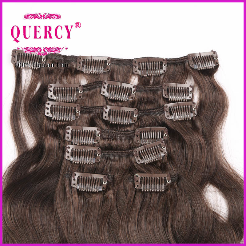 Any Inch Top Quality 100% Remy Human Clip Hair pictures & photos