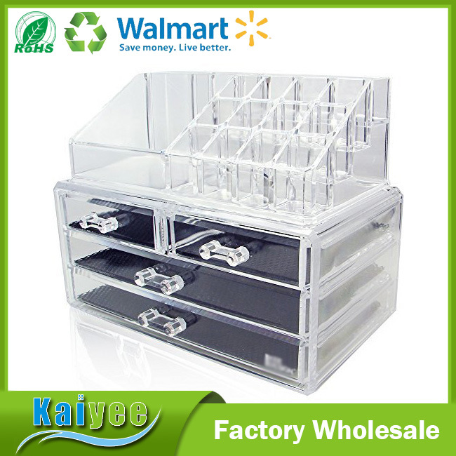 [Hot Item] Wholesale Acrylic 3 Layer Jewelry \u0026 Makeup Organizer with Drawers