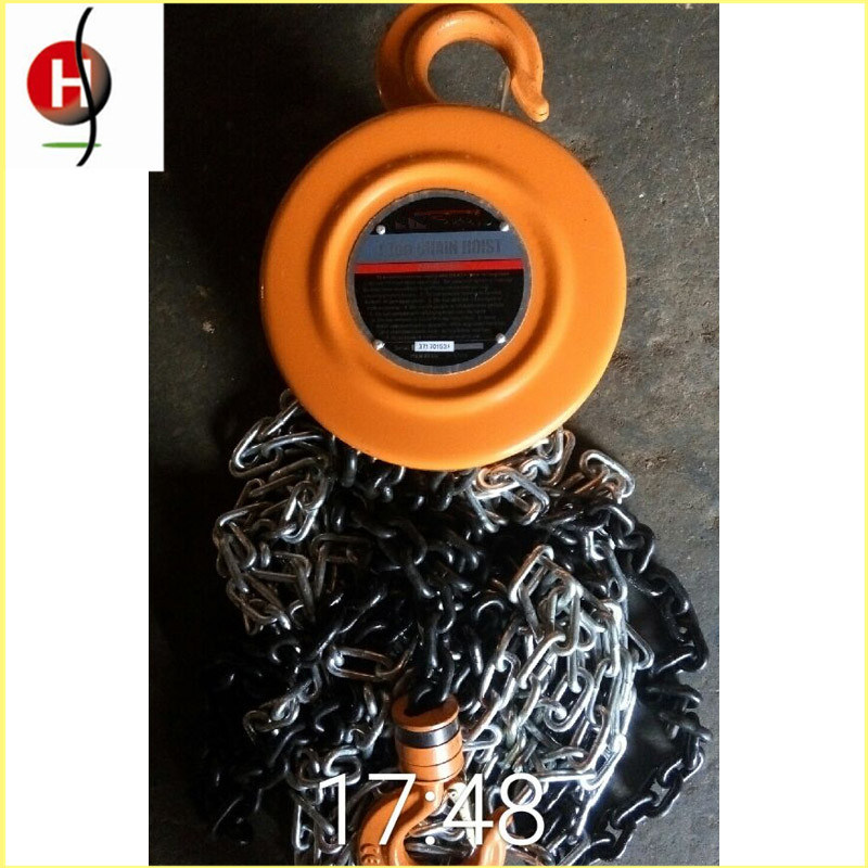 Top Quality Portable Hsz 2t 3m Chain Hoist pictures & photos