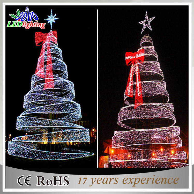 Commercial Outdoor Christmas Tree Lights: China Giant Outdoor 8m Commercial LED Spiral Christmas