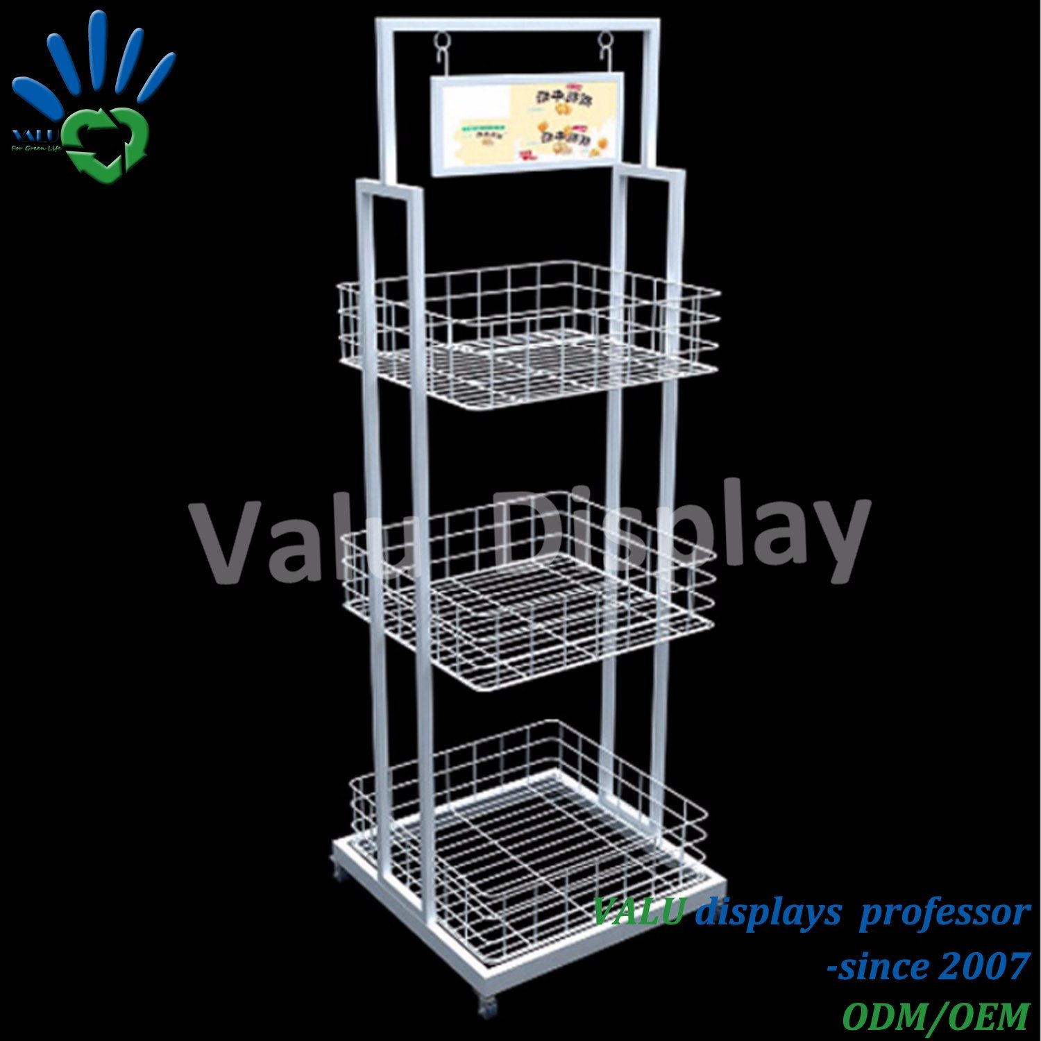 China Metal Wire Display Rack for Retail Supermarket and Shop Store ...