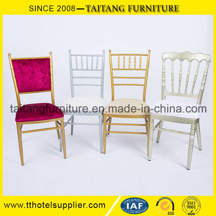 Stacking Metal Hotel Restaurant Banquet Wedding Tiffany Chiavari Chair pictures & photos