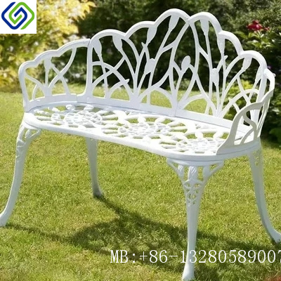 Cool Hot Item Classical Powder Coated Black Cast Aluminium Garden Patio Bench Gmtry Best Dining Table And Chair Ideas Images Gmtryco