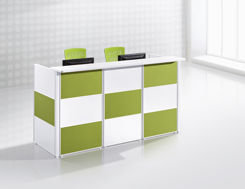 China Aluminum Frame Mdf Board Office Reception Desk Counter Table