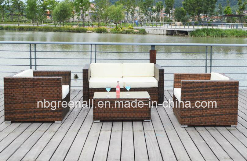 PE Rattan & Aluminum Frame Furniture, Outdoor Rattan Sofa pictures & photos