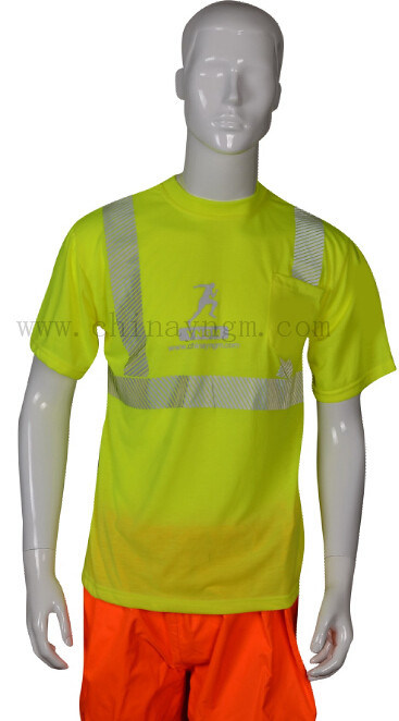 Short Sleeve Man Reflective Safety T Shirt