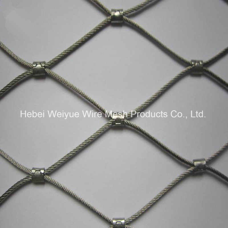 China 304 Stainless Steel Wire Rope Fence Mesh Steel Cable Mesh ...