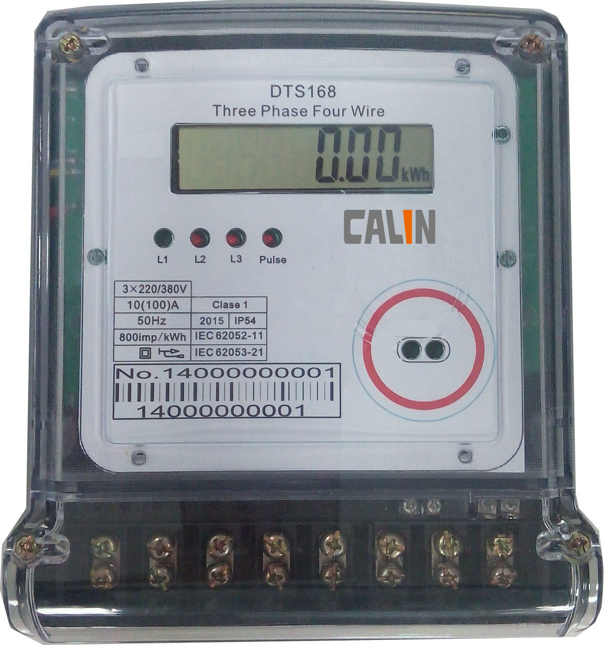 China 3 Phase 4 Wires Electric Energy Meter with Multi Tariff ...