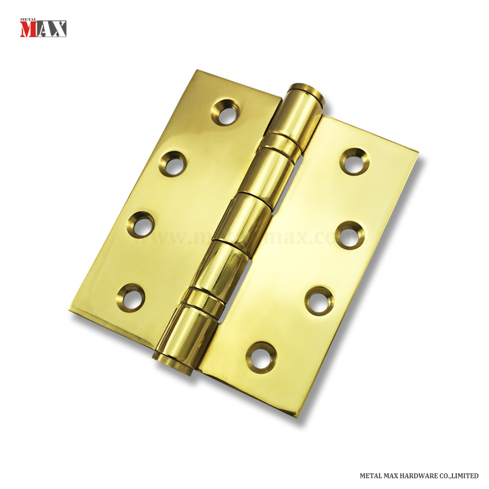 Internal Door Hinges >> Hot Item House Office Room Hardware Stainless Steel Ball Bearing Pvd Bright Shiny Polished Golden Brass Color Internal Door Hinge
