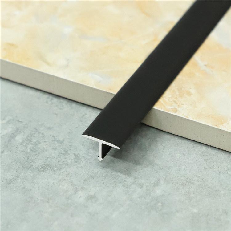 China Aluminum T Shaped Floor Transition Strips Metal Edged Trim Bronze Tile Porcelain Manufacturers Edge Strip