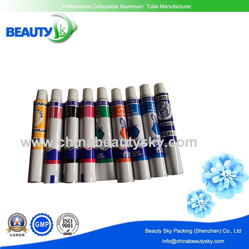 Water Paint Tubes Packing Tubes Aluminum Collapsible Tubes