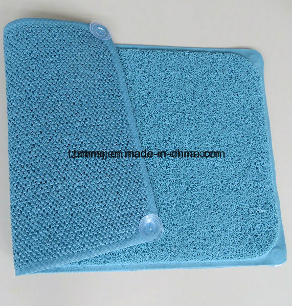 Suction PVC Loofa Bath Mat Shower Mat Floor Mat Europe Market