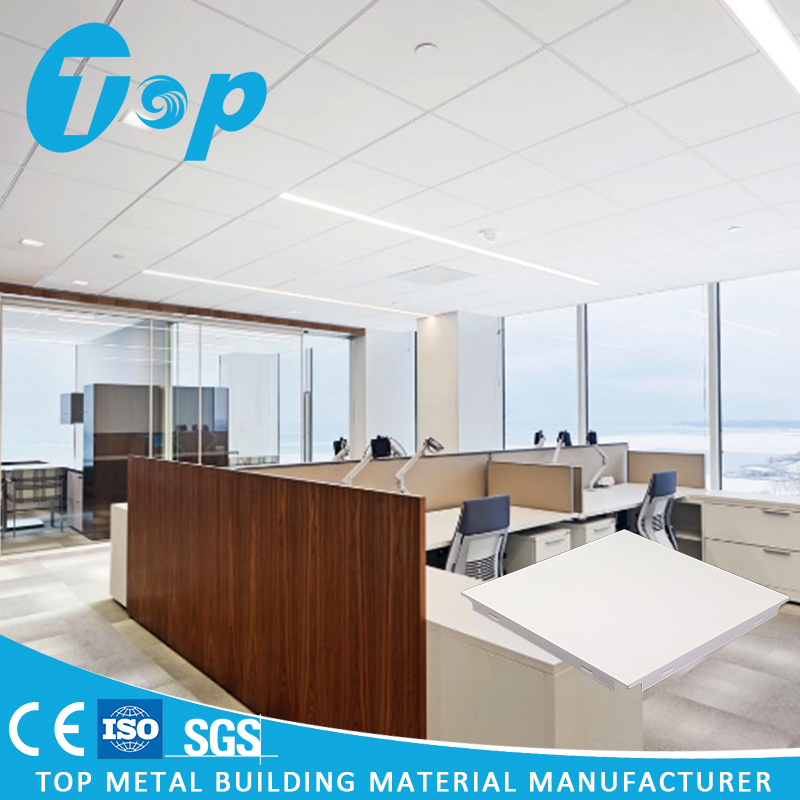 China 2017 Acoustic Pop Ceiling Design Metal False Aluminum Clip In Ceilings Perforated